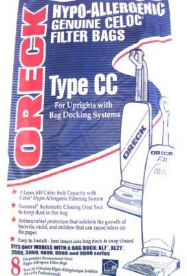 Oreck Hypo-Allergenic Genuine Celoc Filter Bags Type CC