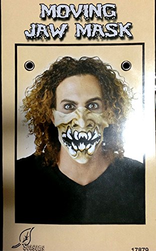 Punk Horror HALF FACE MASK-JAW MOVES Halloween Cosplay costume Accessory-MONSTER