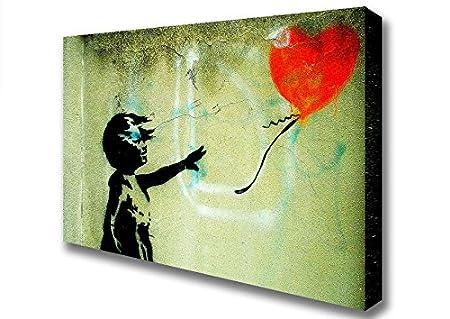 Banksy Love Heart Balloon Girl Float Canvas Art Prints - Double XL ...