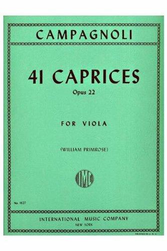 Primrose Viola (41 Caprices, Opus 22 for Viola by Bartolemeo Campagnoli: (William Primrose))