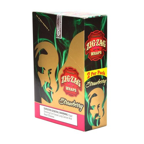 ZIG ZAG CIGAR WRAPS 2 PER PACK STRAWBERRY FLAVOR PACK OF 25