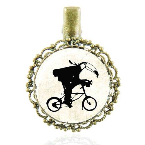 Pince à cheveux au cabochon vintage au vélo ancien
