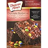 Duncan Hines Premium Brownie Mix, Chocolate Candy, 655g