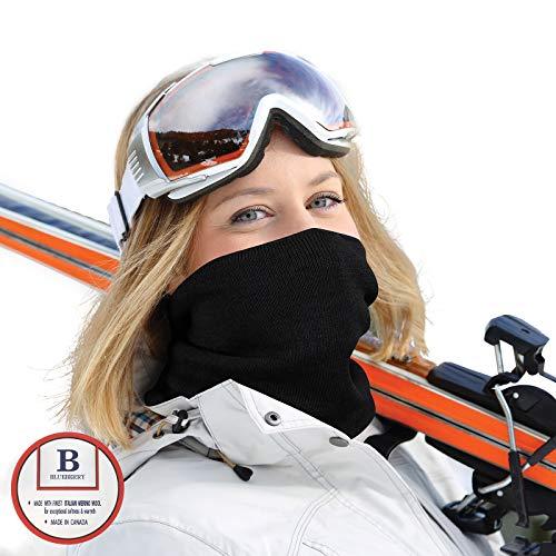 Merino Wool Neck Gaiter | Soft Italian Yarn Neck Warmer | Works as a Protective Neckband, Face Mask, Face Shield, Bandana & Balaclava| High-End Winter Gear & Apparel For Ski, Snowboard & More