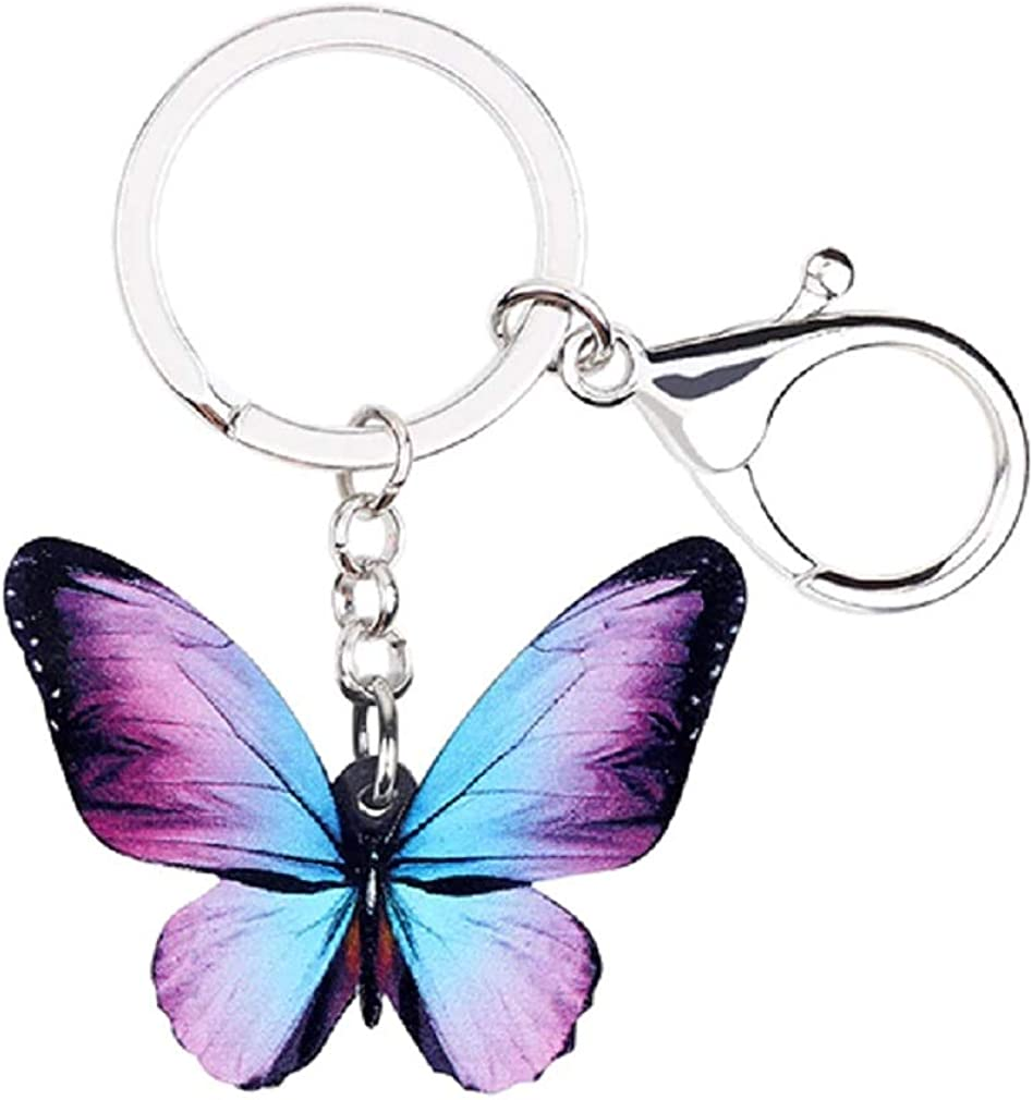 The Crafty Owl Adorable Butterflies Key Chains in Various Designs
