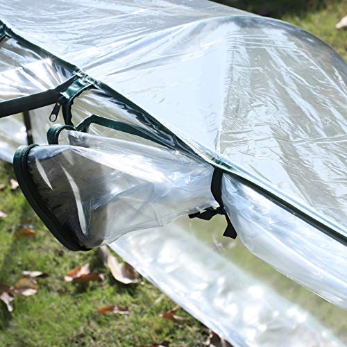 Outsunny 13' L x 3.25' W x 2.5' H PVC Metal Tunnel Cloche Garden Greenhouse Kit by Outsunny (Image #8)