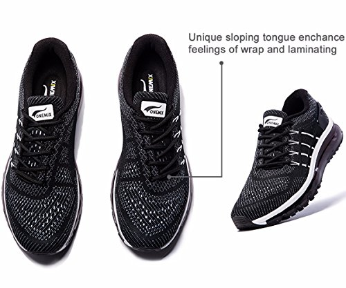 Womens Black White Shoes Air Sneakers Running Sloping Design ONEMIX Tongue dTHBwd