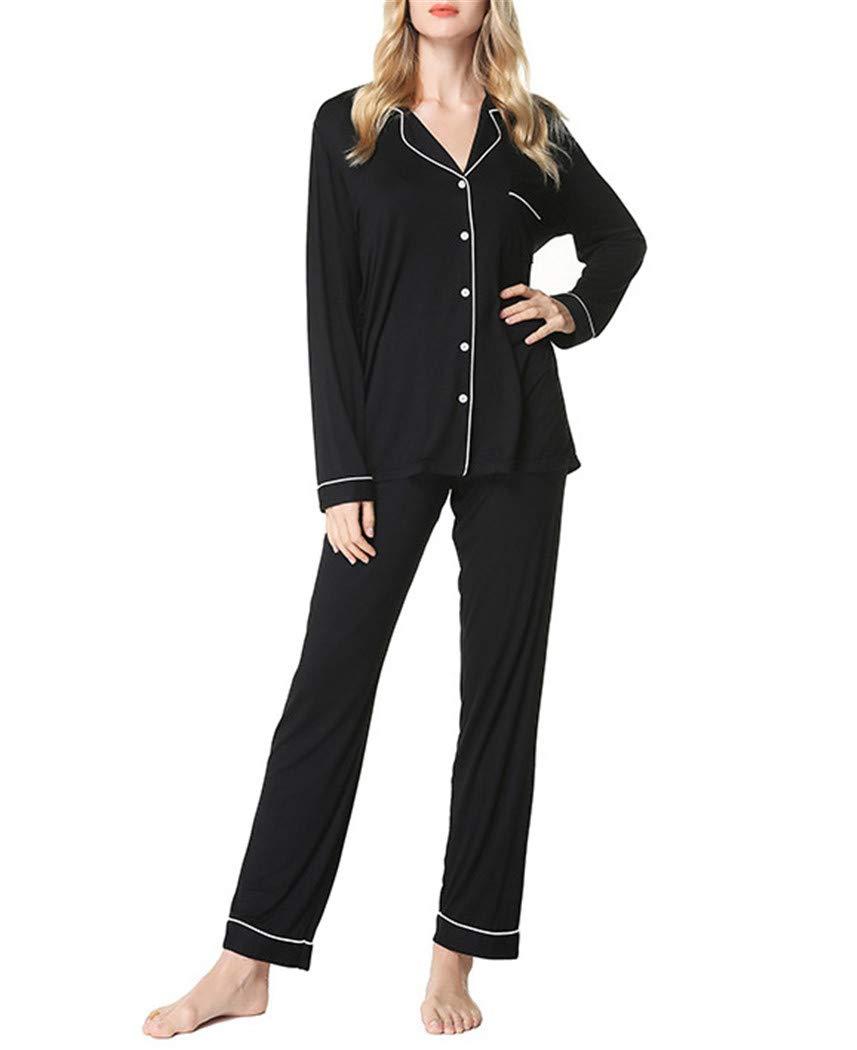 e4c8a82643a Black YOJDTD Pajamas Nightdress Ladies Pajamas Two Sets of Home ...