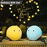 Lovely Touch Sensor Silicone Baymax Night Light Best Color Changing Mood Lamp for Baby Bedside, Kids Room, Romantic Home Deck, Baby Toys Emie Elfy