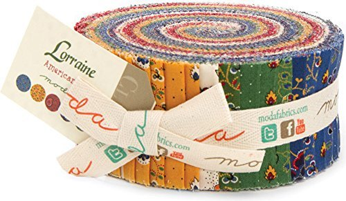 Moda American Jane Lorraine Jelly Roll 42 Strips 2.5 x 44