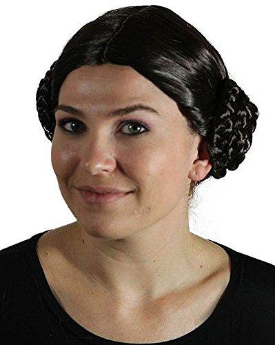 My Costume Wigs Women's Princess Leia Wig (Dark Brown) One Size fits all (Dark Princess Costume)