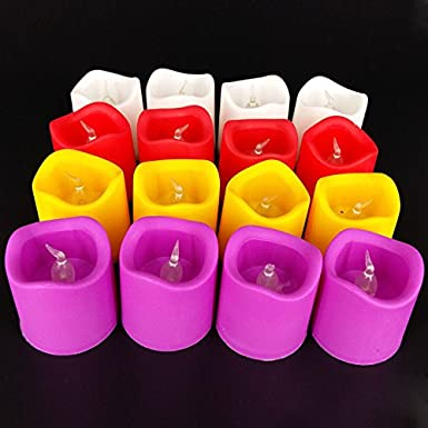 Pick Indiana 24 Pcs Cool Bodycolor Led Floral Flameless Tea