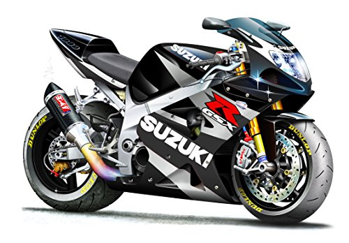 GSXR 1000 Dark Gray Suzuki Motorcycle Wall Decal (4ft Long) Vintage Sticker Car Poster Mural Garage Man Cave Decor Christmas Gift for Dad