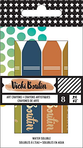 American Crafts Vicki Boutin Mixed Media Oil Pastel Art Crayons 8/Pkg-#3 - Neutral