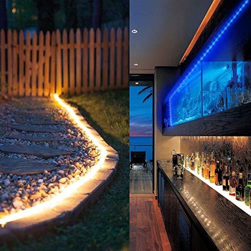 LED Strip Light, WEKSI Waterproof LED Tape Lights 300LEDs Lightstrip 32.8ft 10m Color Changing RGB 5050 LED Light Strip Kit with 44 Keys Remote Controller and 12V 5A Power Supply by Weksi (Image #6)
