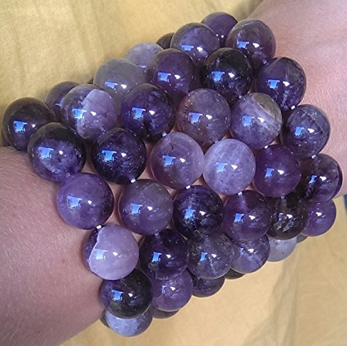 "Huge AURALITE 23 Crystal Bracelet 16MM Beads! 7"" Authentic Auralite Bracelet Amethyst, Smoky Quartz, Citrine, Hematite, Super Seven Sister!"
