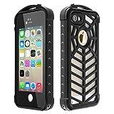 SPIDERCASE iPhone 5S 5 SE Waterproof Case Full Body Protective Durable Dustproof Snowproof IP68 Certified Waterproof Case Retail Packaging - Black