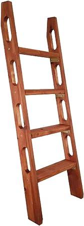 Escalera para escaleras Interiores y Exteriores, Escalera de Madera para pasamanos - Escalera Recta (Tamaño : 4 Step (125cm High)): Amazon.es: Hogar