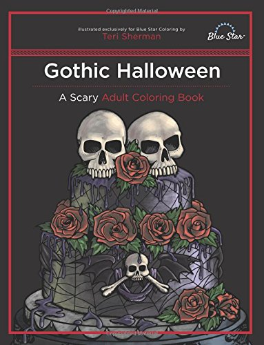 Gothic Halloween Scary Adult Coloring