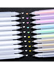 Ohuhu Gold Silver White Gel Pen Set For Artist, 10 Colors (20 Pack) Gel Ink Pens, White Pens For Highlighting On Markers Colored Pencils Watercolor Paintings, Gel Paint Pens For Mother's Day Gift