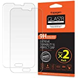 Galaxy S5 Screen Protector, Spigen® Samsung Galaxy s5 [Tempered Glass] [2 Pack] Screen Protector [Easy-Install Wing] [Lifetime Warranty] -2 Pack