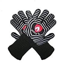 Midas BBQ Cooking Heat Resistant Gloves-Extreme Heat Resistant Oven Mitts,EN407 Protect up to 932°F 500°C-Cooking,Grilling,Fireplace