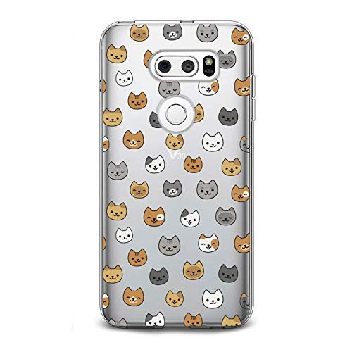 Lex Altern TPU Case for LG G8 Stylo 4 K11 G7 ThinQ G6 V40 V35 V50 K8 Cat Clear Cute Kid Pattern Animal Flexible Girl Kawaii Teen Cover Kitten Pattern Print Protective Design Women Silicone Gift Glam]()