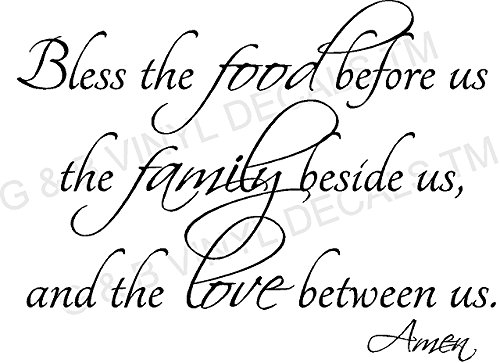 Cheap  BLESS THE FOOD FAMILY LOVE KITCHEN VINYL WALL DECAL LETTERS DECOR BY..