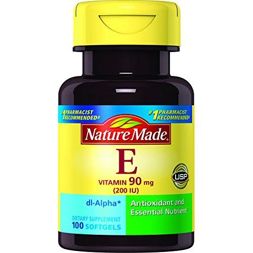 (Nature Made Vitamin E 200 IU (dl-Alpha) Softgels (Pack of 3) )