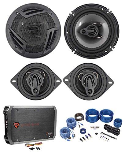 "Rockville RV6.3A 6.5"" Speakers+ 3.5"" Speakers+4-Channel Amp"