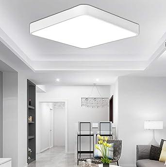 ETiME 18W LED Deckenlampe Kaltweiß Eckig Deckenbeleuchtung Licht Modern  Energiesparend Möbeleinbauleuchte 6000K-6500K Wohnzimmer Schlafzimmer Küche  ...
