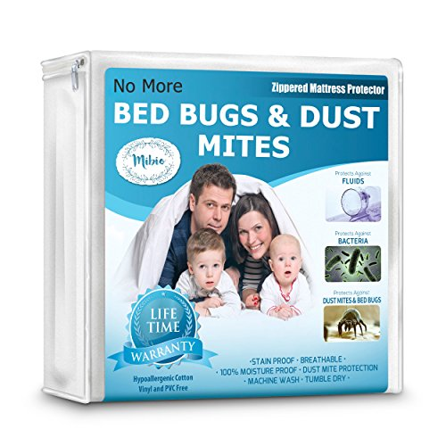 Bed Bugs Bedding - Mattress Protector & Allergen Bed Cover Pads - Queen, King, Twin, Full, Cal, Pillow Top and Crib sizes. Vinyl Free, Zippered, Hypoallergenic, Waterproof Covers, Bedbug, Dust Mite Proof – Full Size