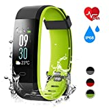 TMKEFFC Fitness Tracker, Activity Tracker with Heart Rate Monitor, IP68 Waterproof Fitness Watch