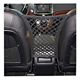Car Seat Net Organizer, Universal Stretchy Car Backseat Dog Barrier, Cargo Tissue Purse Holder, Driver Storage Netting Pouch, Pet Disturb Stopper, Seat Mesh Obstacle Vehicle Travel Dog Backseat Barrie