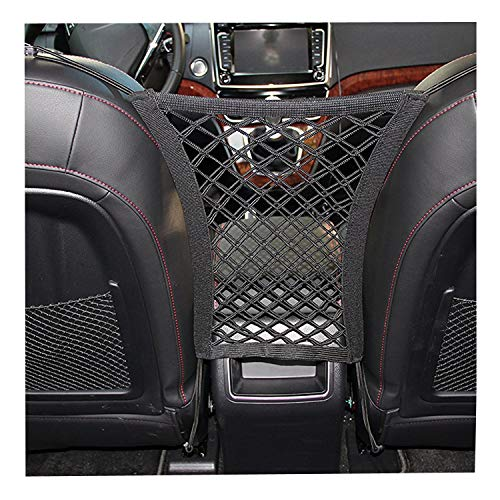 Cheap Car Seat Net Organizer, Universal Stretchy Car Backseat Dog Barrier, Cargo Tissue Purse Holder, Driver Storage Netting Pouch, Pet Disturb Stopper, Seat Mesh Obstacle Vehicle Travel Dog Backseat Barrie