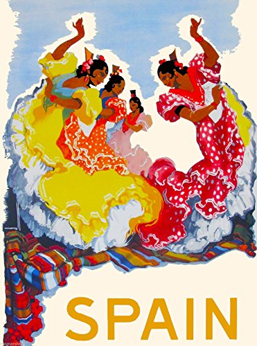 A SLICE IN TIME Spain Spanish Dancers European Europe Vintage Travel Advertisement Art Collectible Wall Decor Poster Print. Measures 10 x 13.5 ()