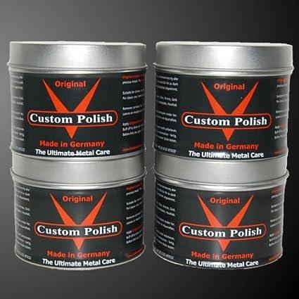 Custom Polish Original bajo pulir Set 4 x 400g aluminio ...