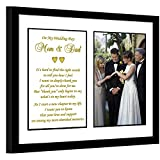 Parent Thank You Wedding Gift - Thank You Poem From Son or Daughter in 8x10 Inch Frame with Room for a Photo