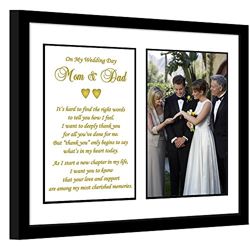 Poetry Gifts Parent Thank You Wedding Gift from Son, Groom or Daughter, Bride - Add Photo