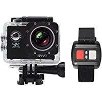 Andoer 2 LCD Screen Wifi Sports Action Camera 4X Zoom 170°Wide-angle 4K 30fps 1080P 60fps 16MP Waterproof 30M Car DVR Camcorder with Remote Control