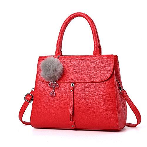 (G-AVERIL) 2018 New Wave Packet Messenger Bag Ladies Handbag Female Bag Handbags for Women Red