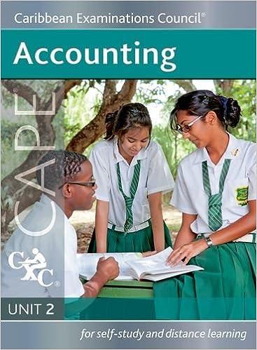 Book Accounting CAPE Unit 2 A Caribbean Examinations Council Study Guide by Caribbean Examinations Council (2014-11-01)