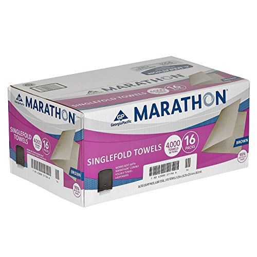 Marathon Singlefold Natural Brown Paper Towels 4,000 Count, Fits All S-Fold - North Shopping West Centre