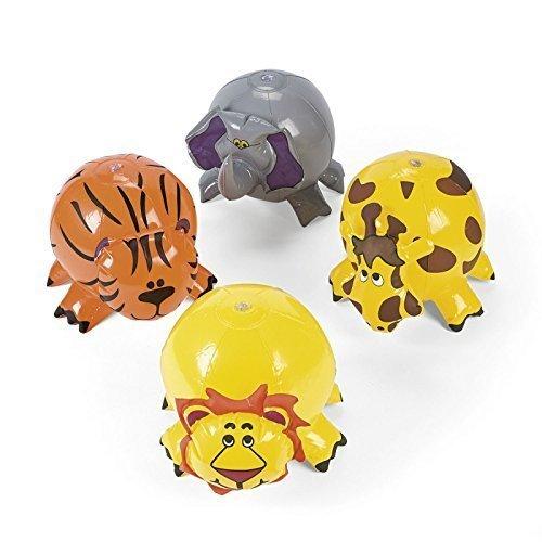 Set of 4 - Inflatable Jungle Animal Beach (Beach Animal)