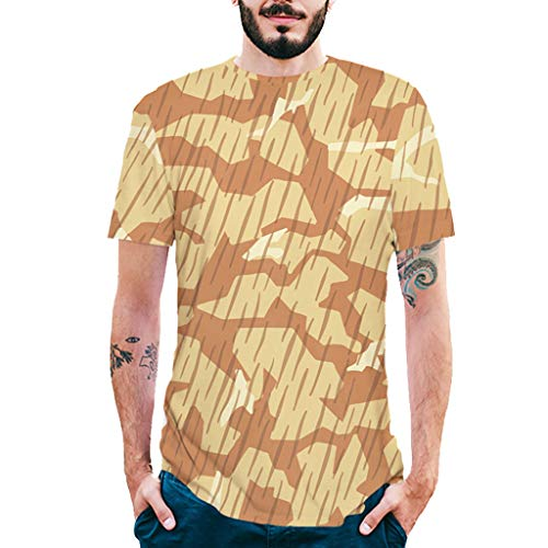Allywit-Mens Shirts Casual Summer Camouflage Slim Fit Tee Shirt Short Sleeve Muscle T-Shirt Classic T Shirts Tshirts by Allywit-Mens (Image #9)