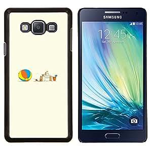TECHCASE---Cubierta de la caja de protección para la piel dura ** Samsung Galaxy A7 ( A7000 ) ** --Castillo de arena