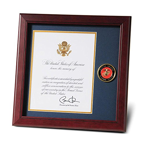 (Allied Frame United States Marine Corps Presidential Memorial Certificate Frame with Medallion - 8 x 10)