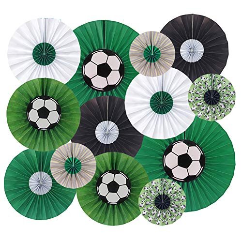 Aspire 13 PCS Hanging Paper Fans Set Party Decoration Accessories for Sport Events Soccer Game ()