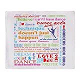 CafePress - Ultimate Dance Collection - Soft Fleece Throw Blanket, 50''x60'' Stadium Blanket