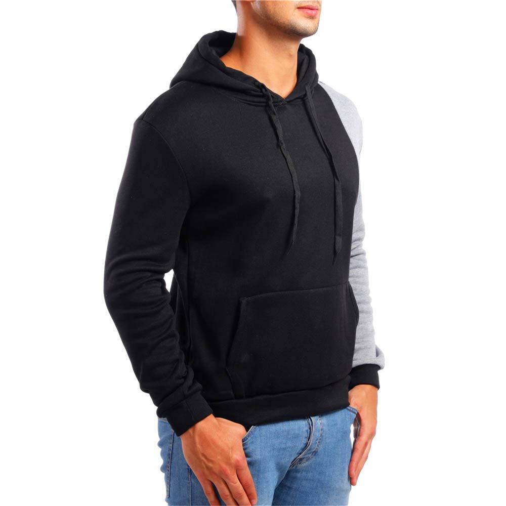 NRUTUP Mens Pullover EcoSmart Fleece Hooded Sweatshirt Heavy Blend Adult Hooded Sweatshirt Cheap Deals